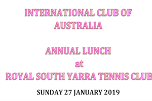 INVITATION to the IC AUSTRALIA ANNUAL LUNCH