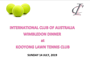 IC Australia Wimbledon Dinner Inviation
