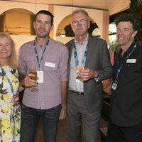 Beyond The Tour Launch - Kerryn Pratt, new member Kane Dewhurst, Ken Barton ad Victor Eke
